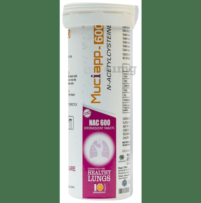 Muciapp 600 N-Acetylcysteine Effervescent Tablet (10 Each)