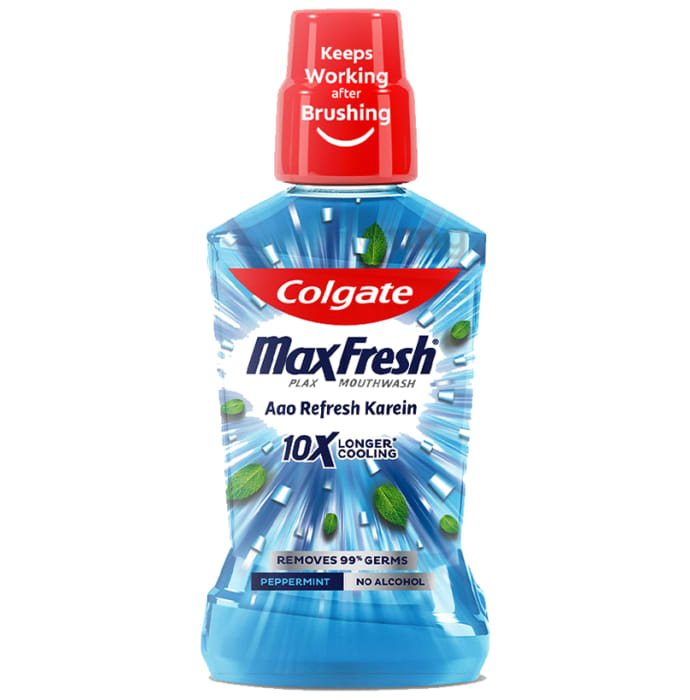 Colgate MaxFresh Plax Mouth Wash Peppermint