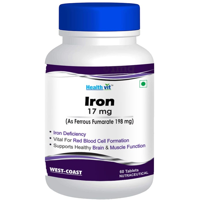 HealthVit Iron 17mg Tablet