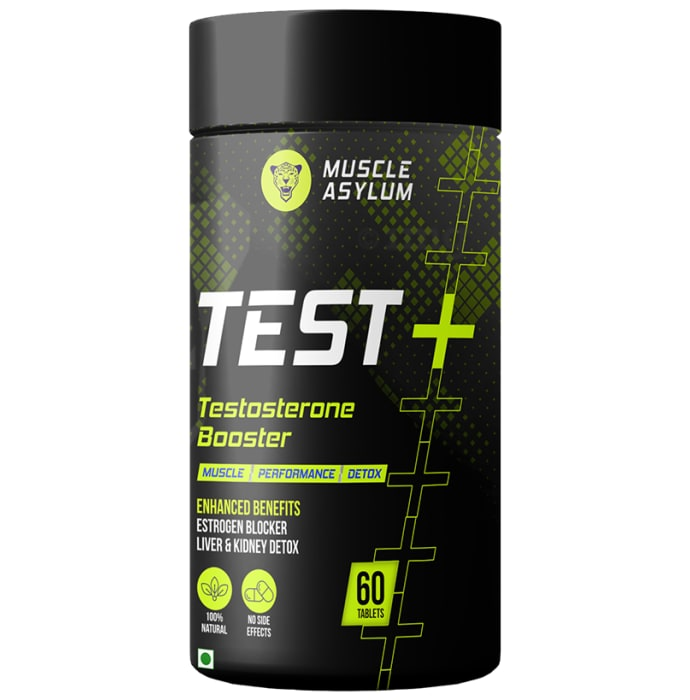 Muscle Asylum Test + Testosterone Booster Fast Releasing Tablet: Buy jar of 60 tablets at best