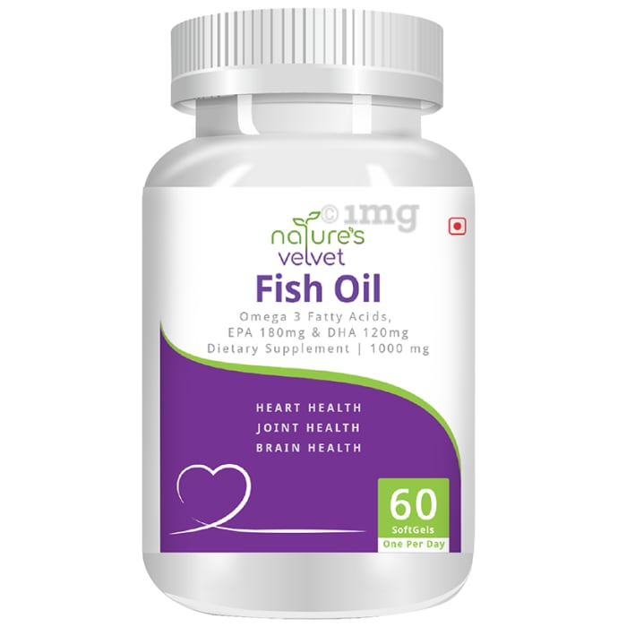 Nature's Velvet Fish Oil Omega 3 1000mg Capsule