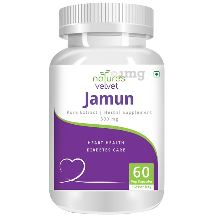 Nature's Velvet Jamun Pure Extract 500mg Capsule