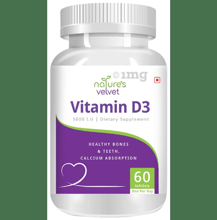 Nature's Velvet Vitamin D3 5000IU Softgel