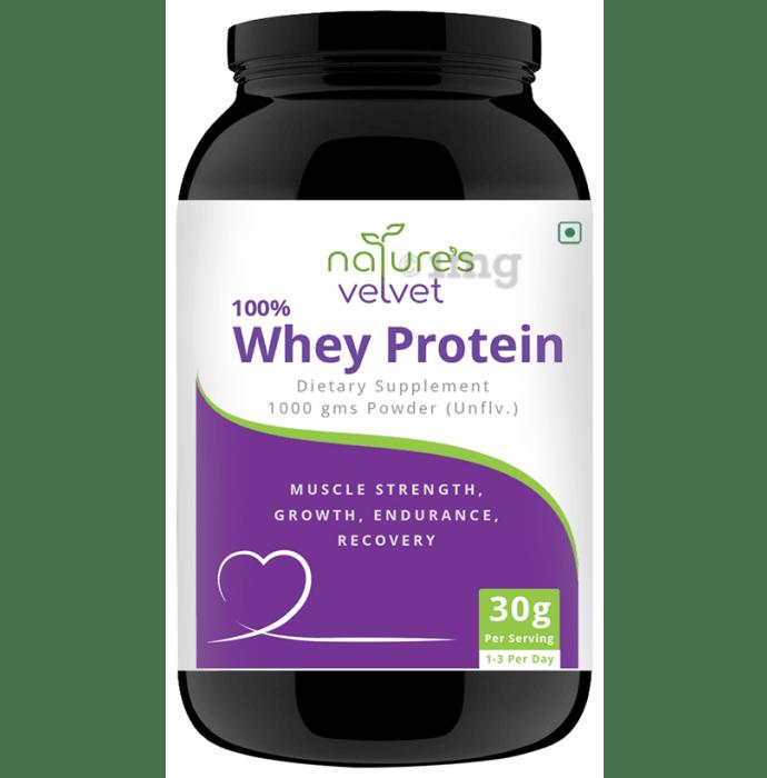 Nature's Velvet 100% Whey Protein Powder Unflavoured