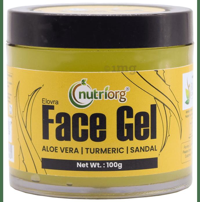 Nutriorg Aloevera Sandal and Turmeric Face Gel