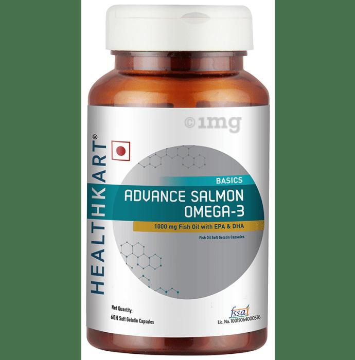 HealthKart Basics Advance Salmon Omega 3 Fish Oil Soft Gelatin Capsule