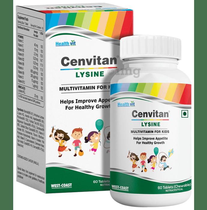 HealthVit Cenvitan Lysine Multivitamin & Multimineral For Kids