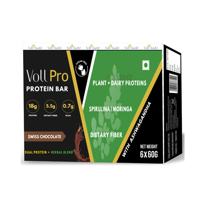 Voll Pro Protein Bar (60gm Each) Swiss Chocolate