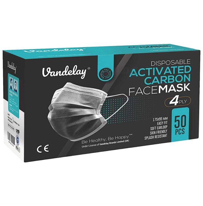 Vandelay 4 Ply Disposable Surgical Face Mask Grey