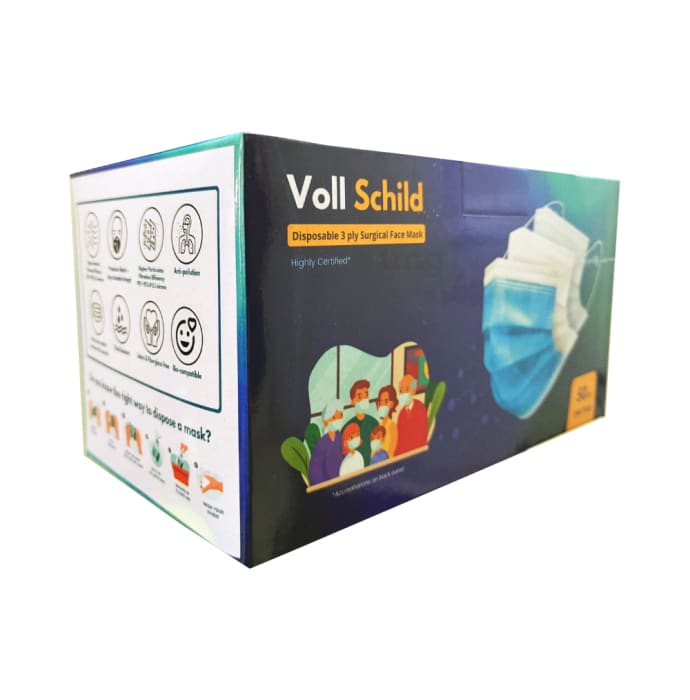 Voll Schild Disposable 3 Ply Surgical Face Mask