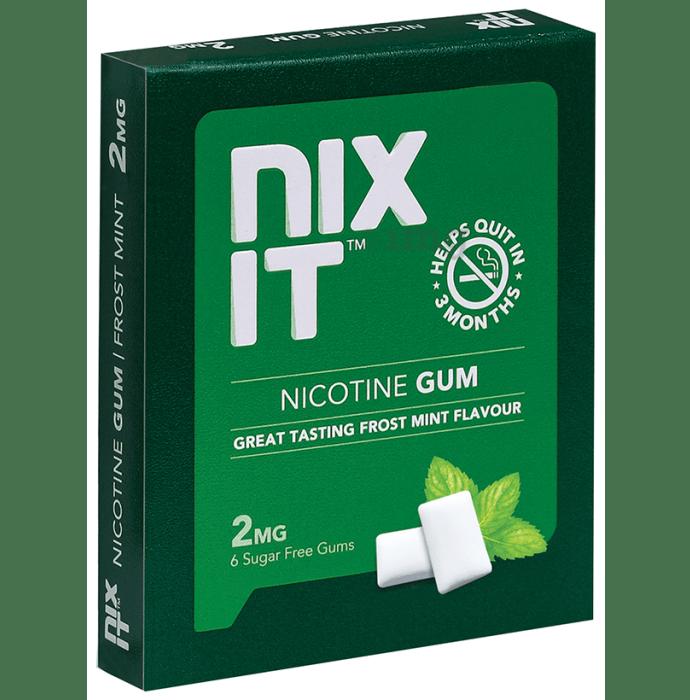 Nixit Nicotine 2mg Gum (6 Each) Frost mint Sugar Free