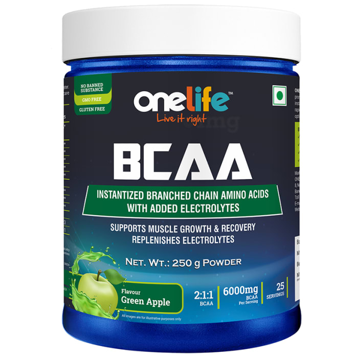 OneLife BCAA Powder Green Apple