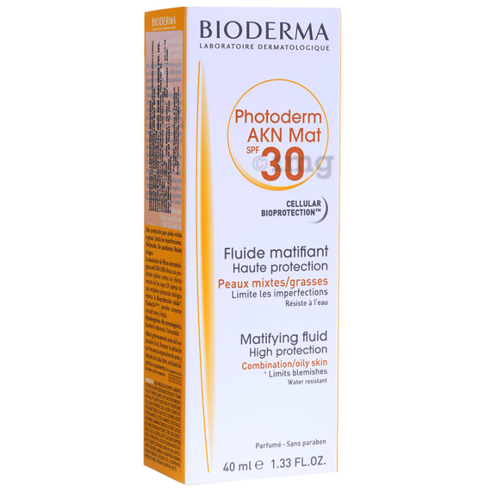 Buy Bioderma Photoderm AKN Mat SPF 30 Mattifying Fluid