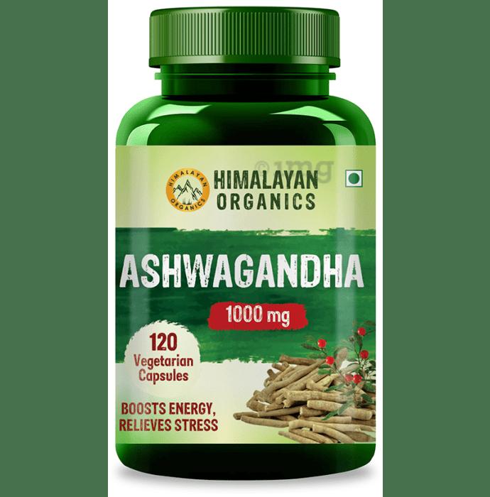 Himalayan Organics Organic Ashwagandha 1000mg Vegetarian Capsule