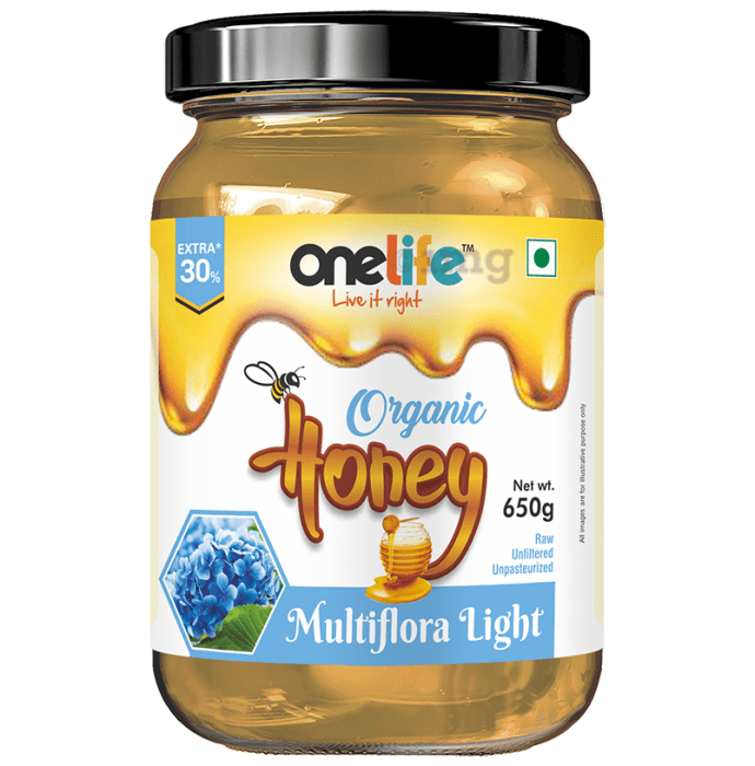 OneLife Organic Multiflora Light Honey