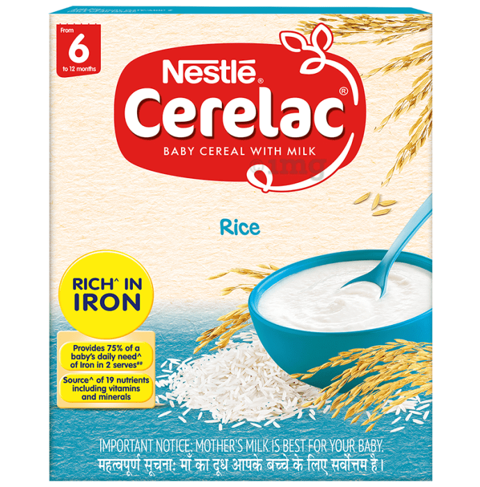 Nestle Cerelac Fortified Baby Cereal with Milk 6 Months+ Rice