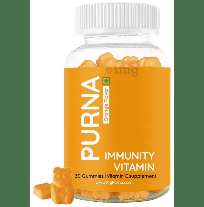 Purna Immunity Vitamin Gummies Orange