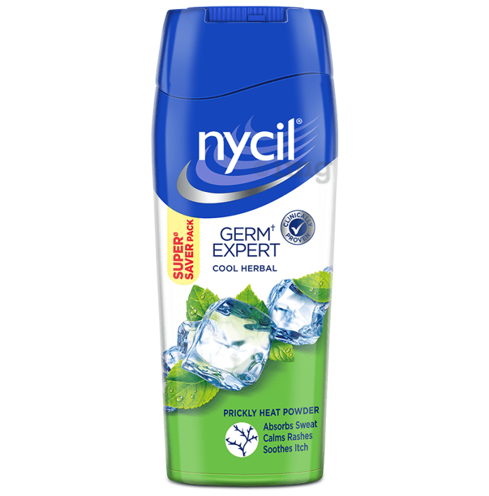 Nycil Germ Expert Prickly Heat Cool Herbal Powder