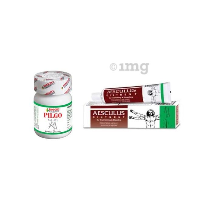 Bakson's Anti Piles Combo (Pilgo Tablet + Aesculus Ointment)