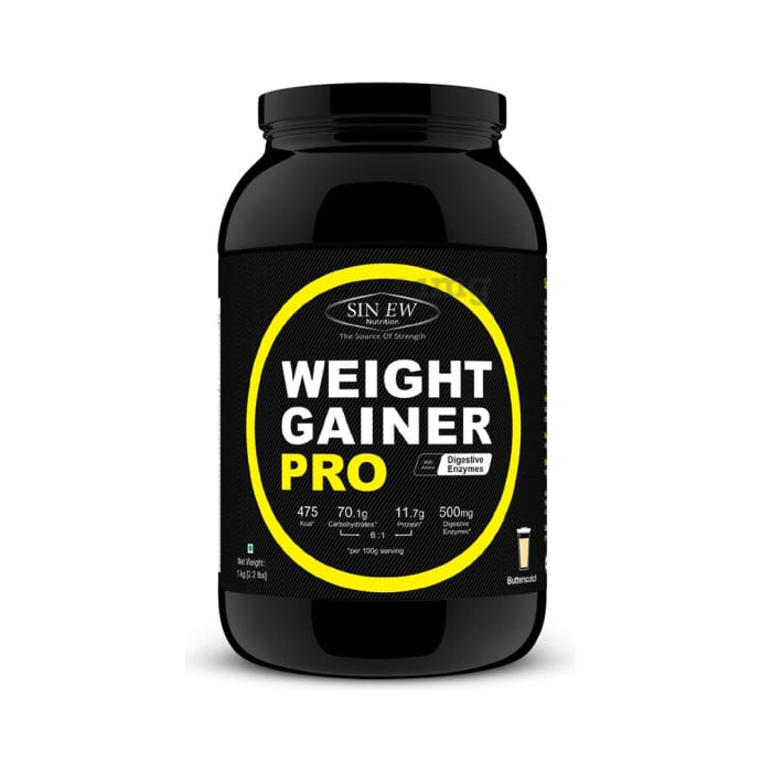 Sinew Nutrition Weight Gainer Pro with Digestive Enzymes Butterscotch