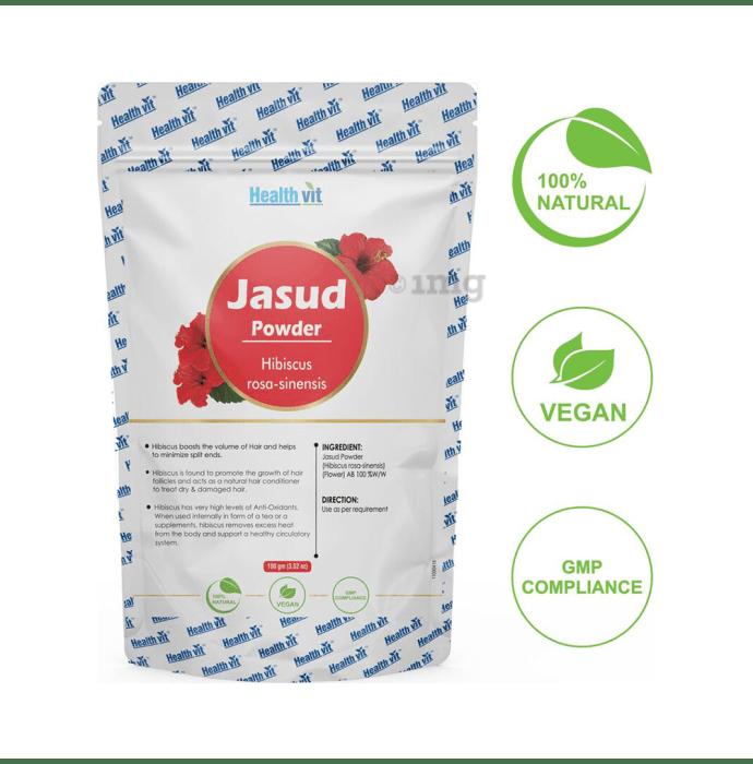 HealthVit Natural Jasud (Hibiscus rosa-sinensis) Powder