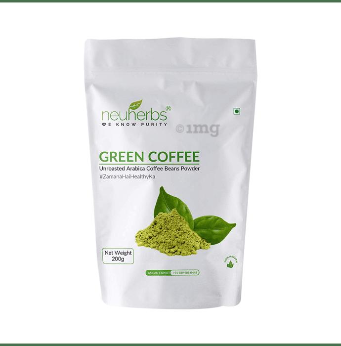 Neuherbs Unroasted Arabica Green Coffee Beans Powder Organic