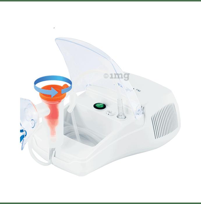 Dr Trust USA Bestest Plus Compressor Nebulizer Machine Kit White