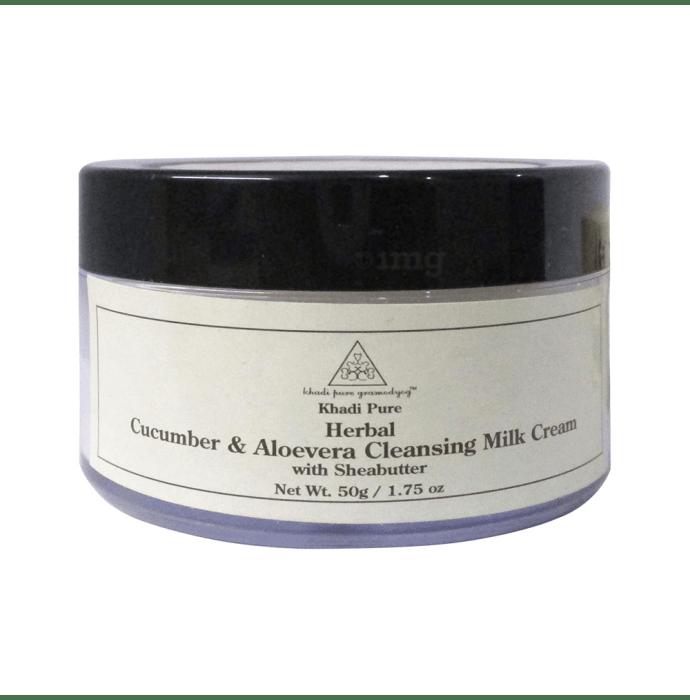 Khadi Pure Herbal Cleansing Milk Cream Cucumber & Aloevera with Sheabutter