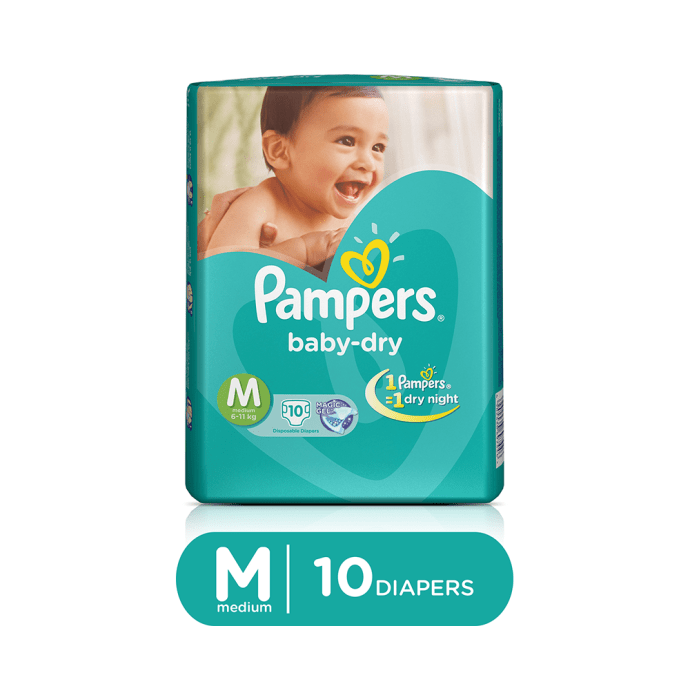 Pampers Baby Dry Diaper M