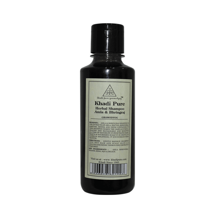 Khadi Pure Herbal Amla & Bhringraj Shampoo
