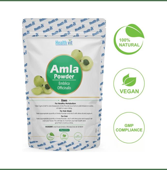 HealthVit Natural Amla (Emblica Officinal's) Powder