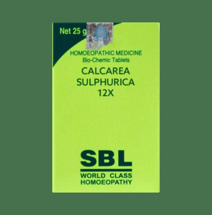 SBL Calcarea Sulphurica Biochemic Tablet 12X
