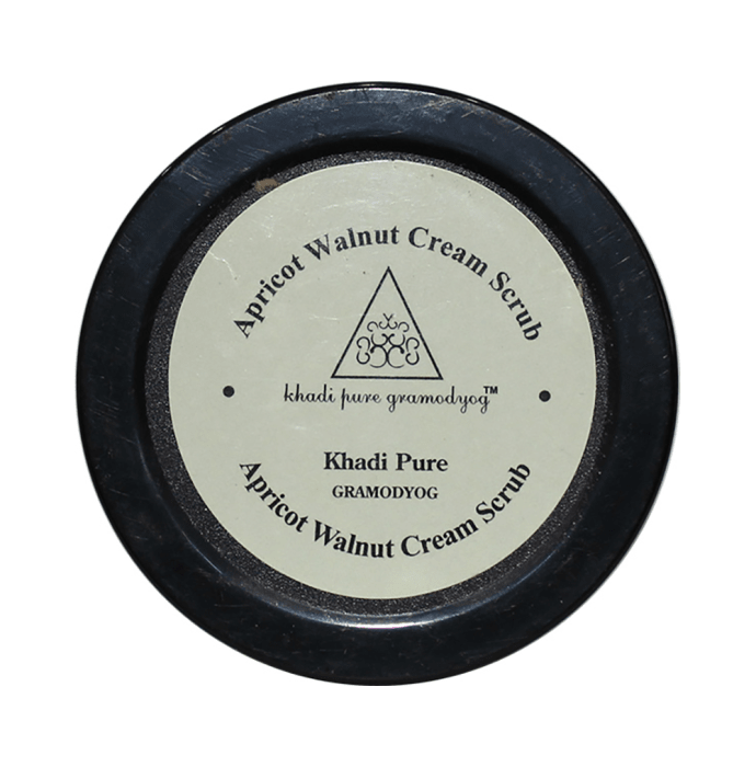 Khadi Pure Herbal Apricot & Walnut Cream Scrub with Sheabutter