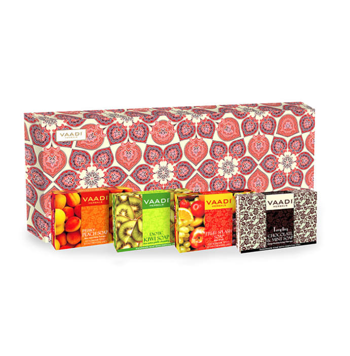 Vaadi Herbals Classic Fruit Collection - 4 Premium Herbal Handmade Soap Gift Box