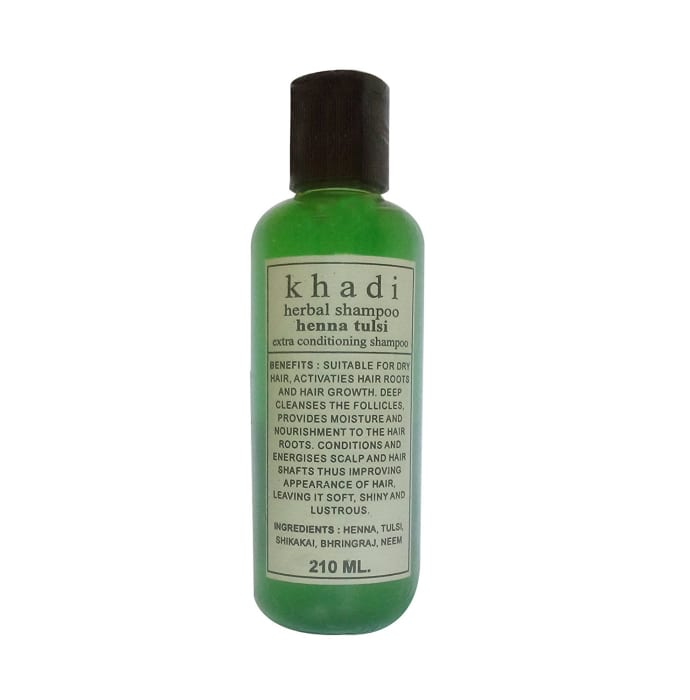 Khadi Herbal Henna Tulsi Extra Conditioning Shampoo