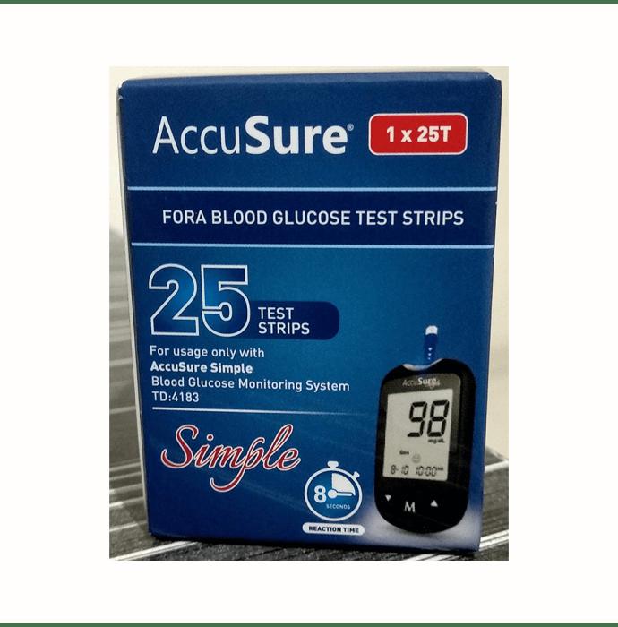 AccuSure Simple Blood Glucose Test Strip