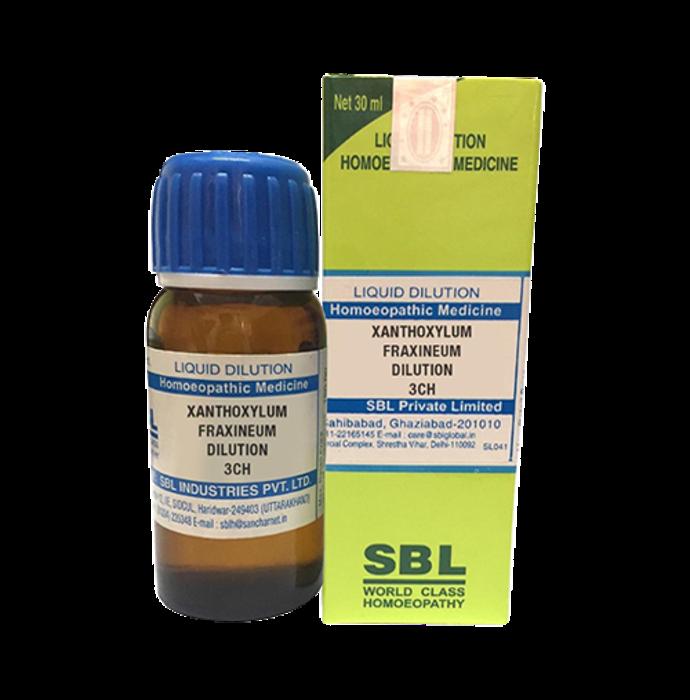 SBL Xanthoxylum Fraxineum Dilution 3 CH