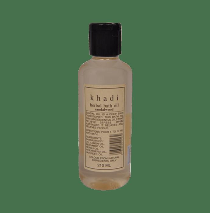 Khadi Naturals Herbal Bath Oil Sandalwood