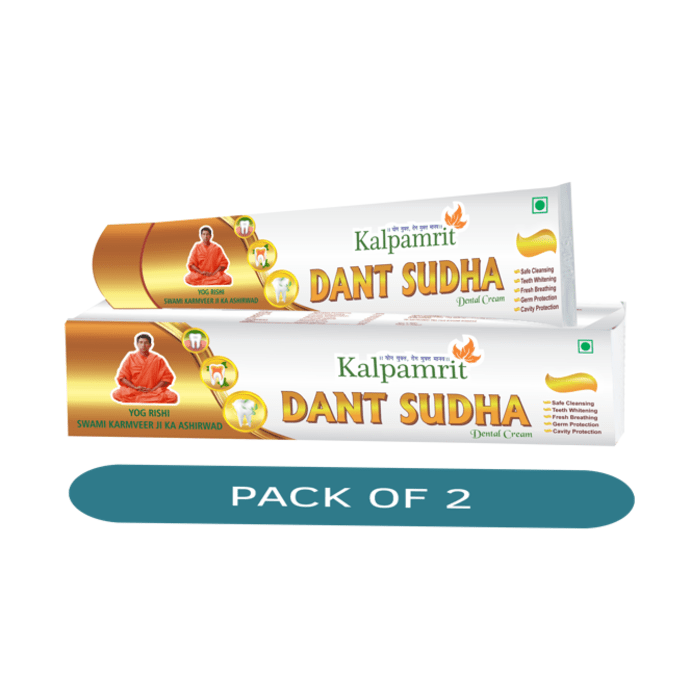 Kalpamrit Dant Sudha Dental Cream Pack of 2