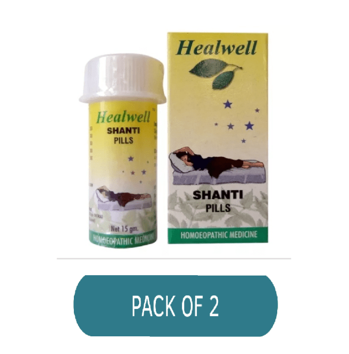 Healwell Shanti Pills Pack of 2