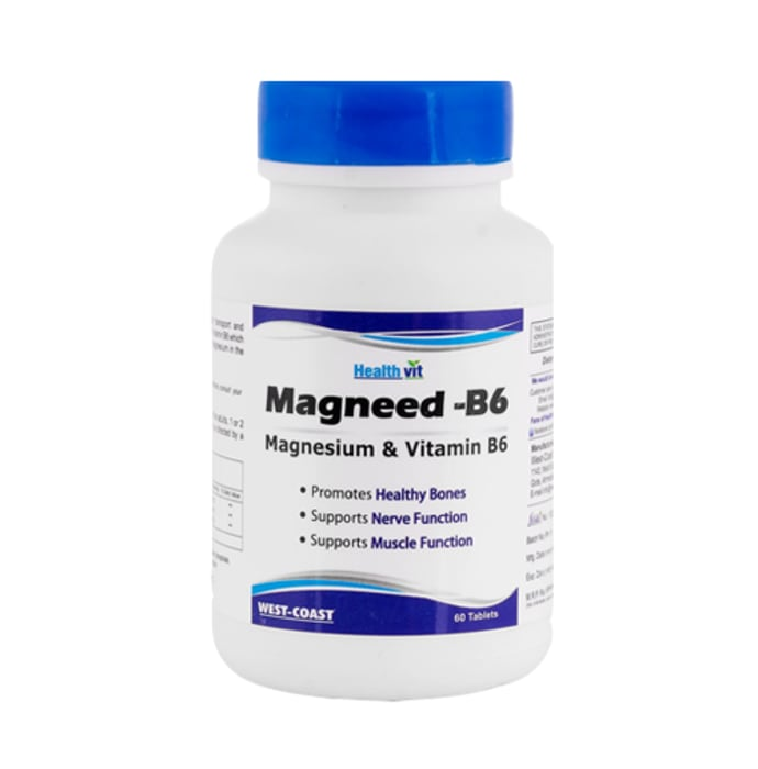HealthVit High Absorption Magneed-B6 Magnesium & Vitamin B6 Tablet