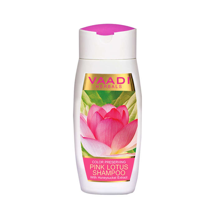 Vaadi Herbals Value Pack of Pink Lotus Shampoo with Honeysuckle Extract - Color Preserving Pack of 3