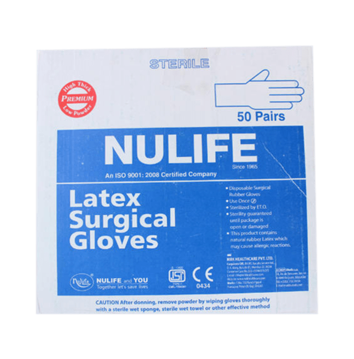 Nulife Sterile Powder Free Surgical Gloves 6.5