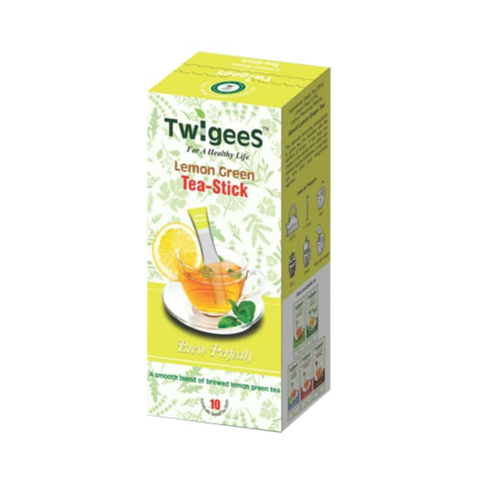 Nature & Nurture Twigees Lemon Green Tea Stick