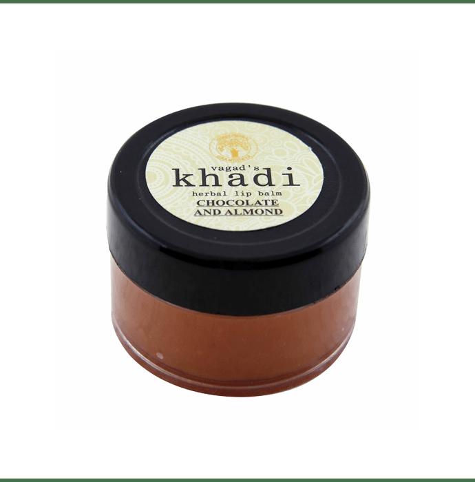 Vagad's Khadi Ayurvedic Herbal Chocolate and Almond Lip Balm Pack of 2