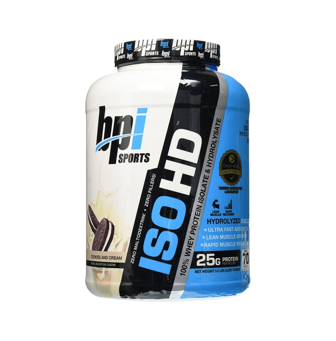 BPI Sports ISO HD 100% Whey Protein Isolate & Hydrolysate Cookies & Cream