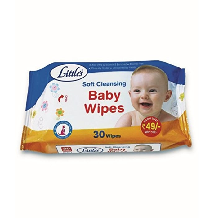 Little's Soft Cleansing Baby  Wipes Pack of 2