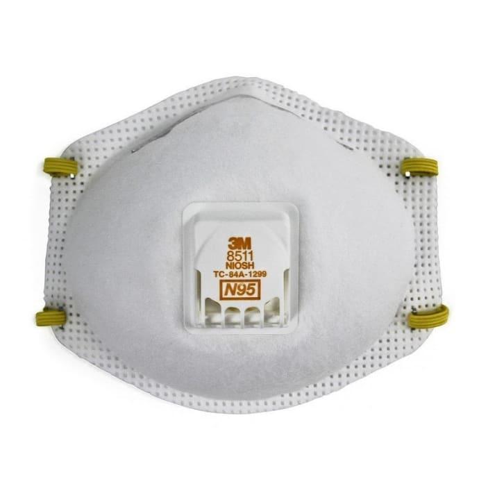 3M N95 8511 Respirator Mask White