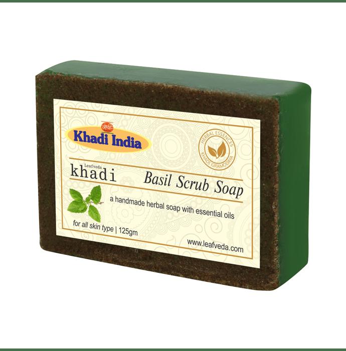 Khadi Leafveda Basil Scrub Soap Pack of 2