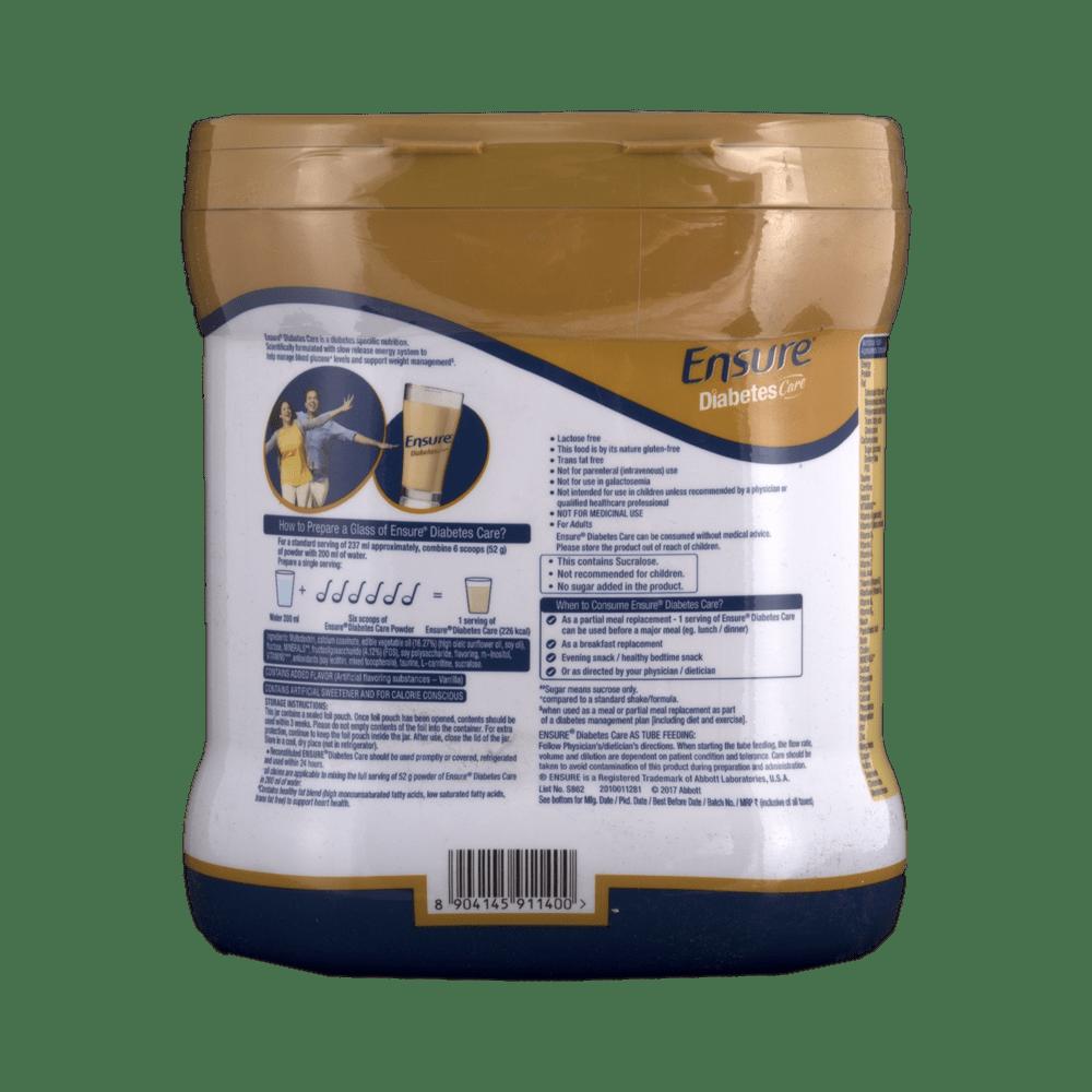 Abbott Ensure Diabetes Care Vanilla Delight Flavor 400 Gm Fos Tin 1000 Gr Powder Buy At Best Price In India 1mg